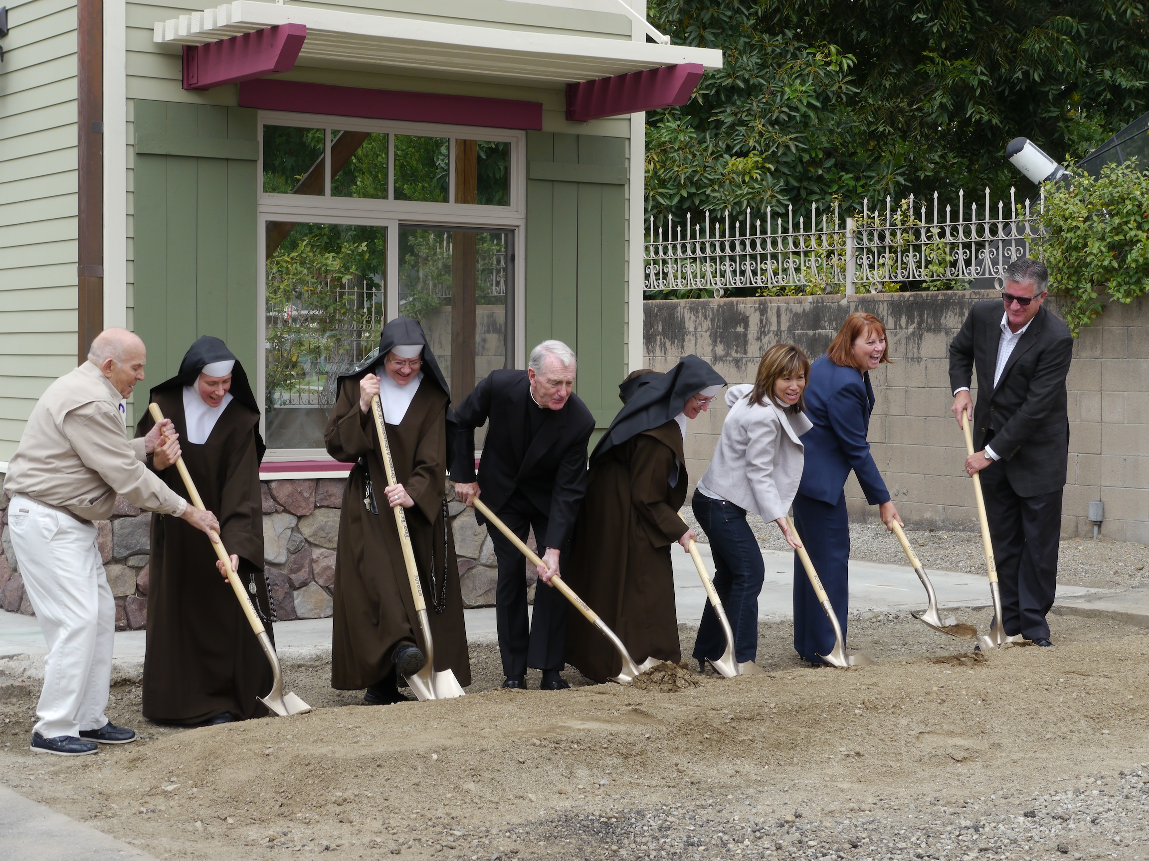 Groundbreaking of Good Shepherd Cottage at Santa Teresita