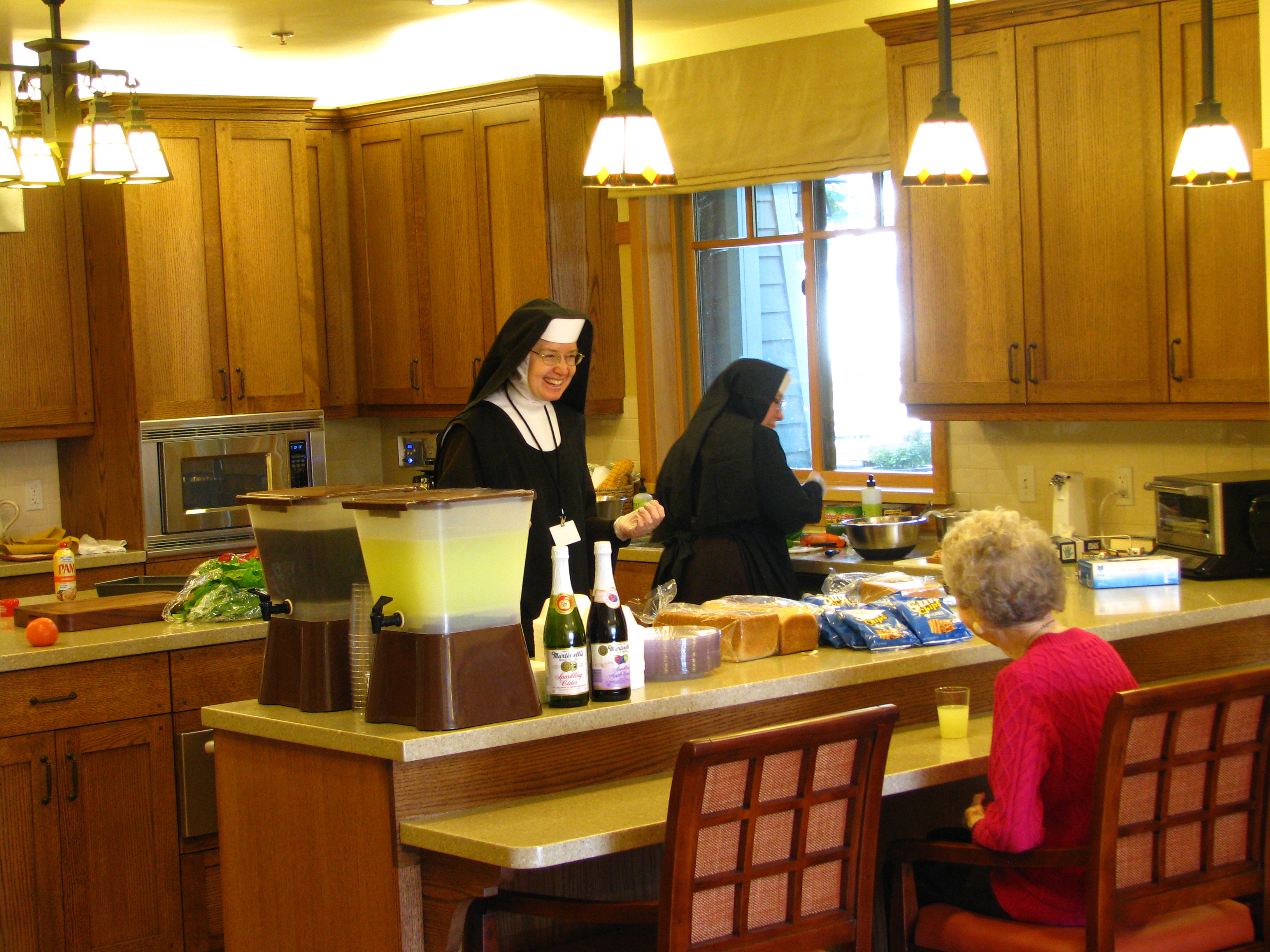Sisters Preparing Lunch