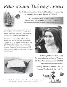 St_Therese_Relics_Flyer