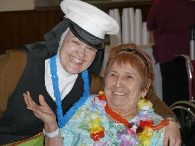Luau Party with Residents