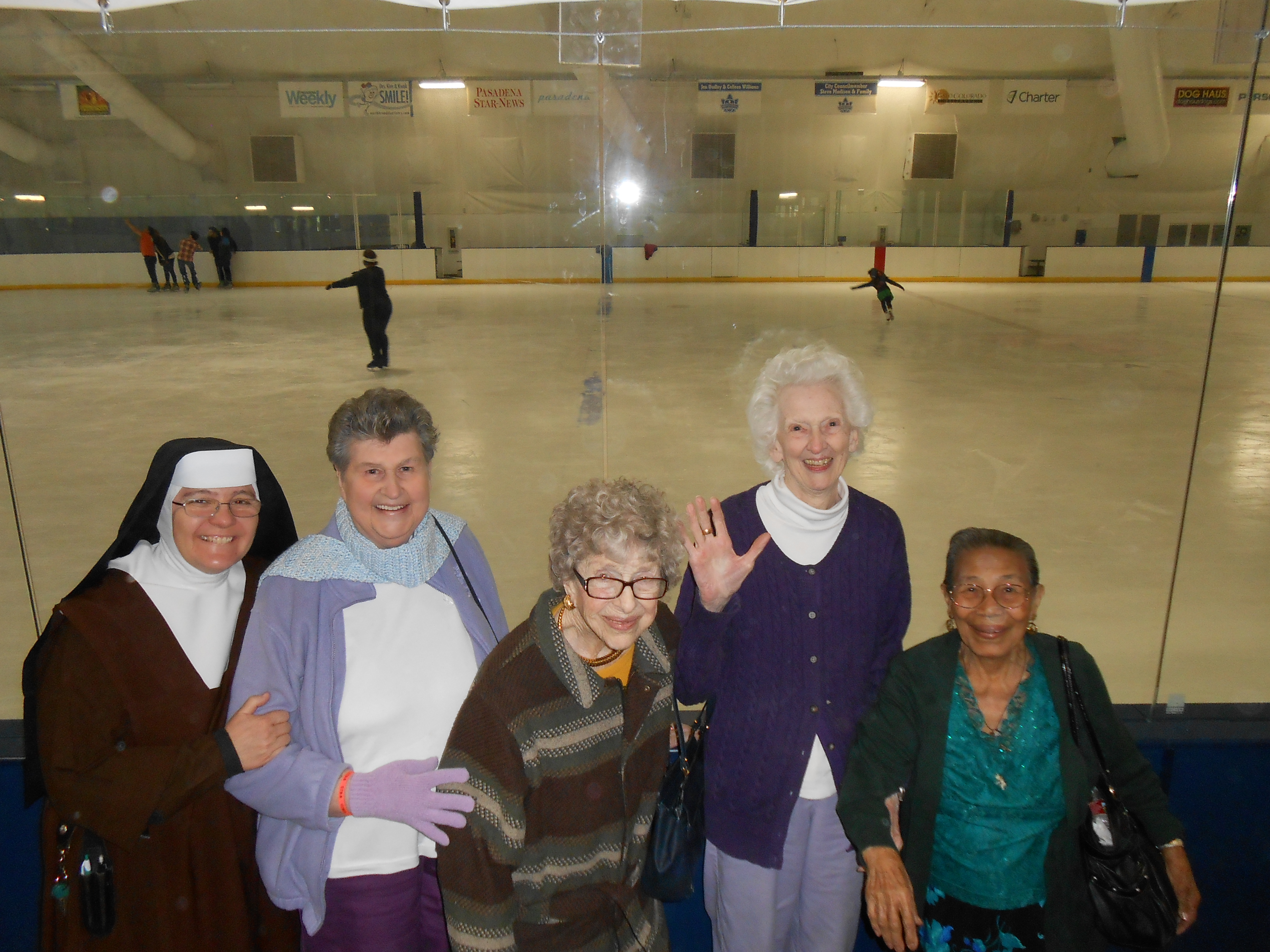 Residents Ice rink outing