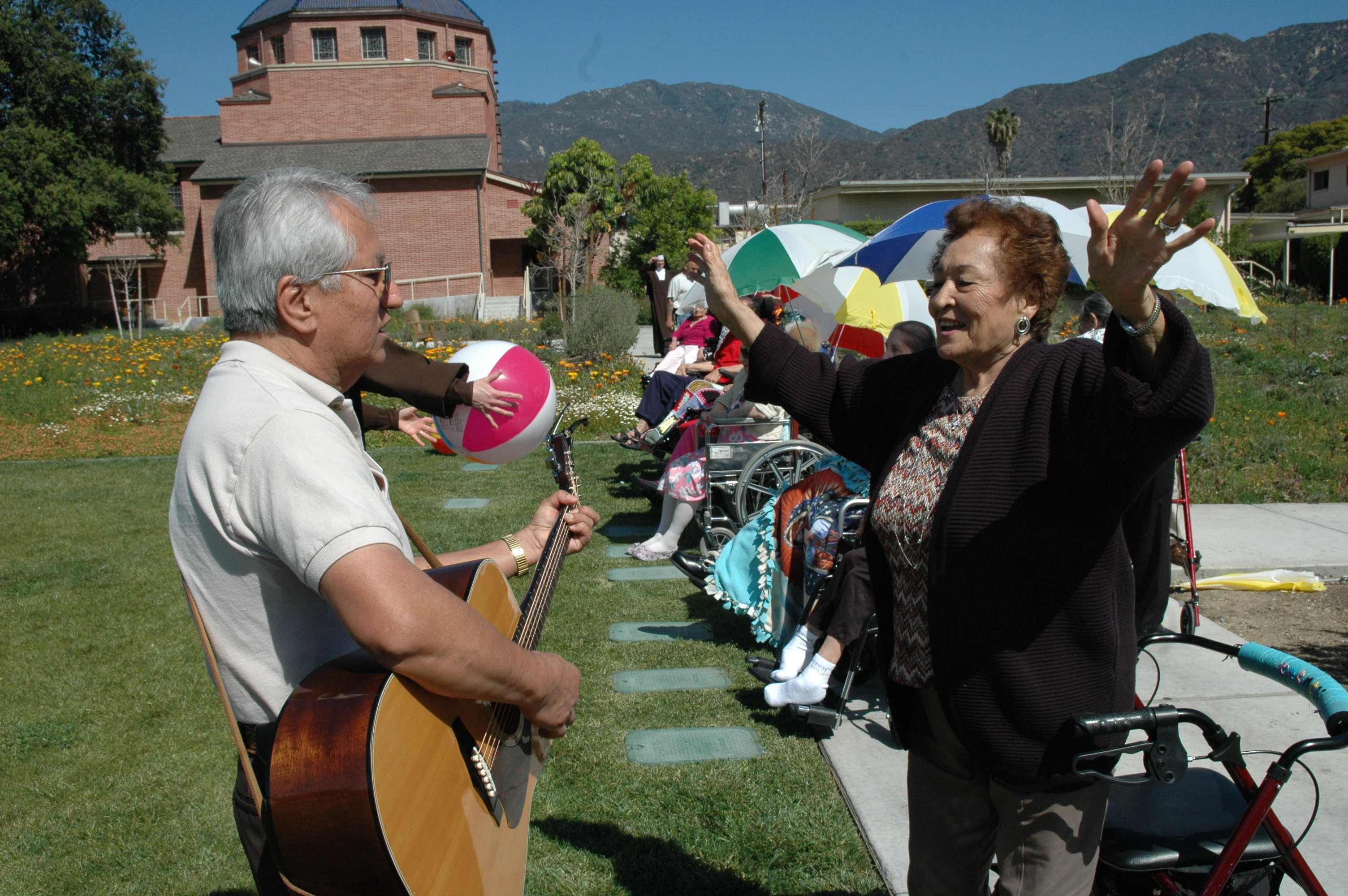 Residents Listening to Music