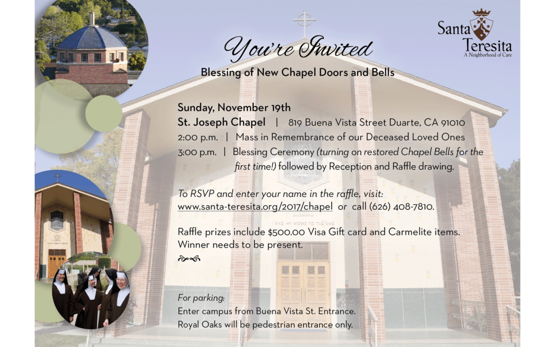 Blessing of New Chapel Doors and Bells  | November 19